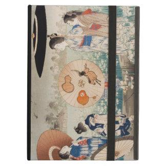 Vintage ukiyo-e japanese ladies with umbrella art iPad cover