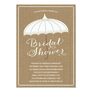 Vintage Umbrella | Bridal Shower Invite