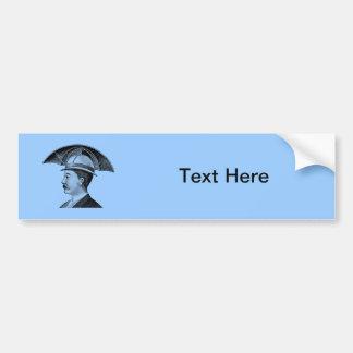 Vintage Umbrella Hat Steampunk Invention Bumper Sticker