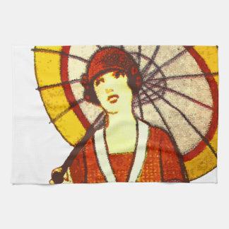 Vintage Umbrella Towel