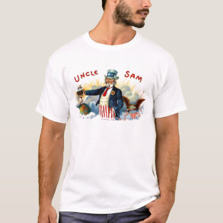 Vintage Uncle Sam Cigar Box Label July 4th T-Shirt