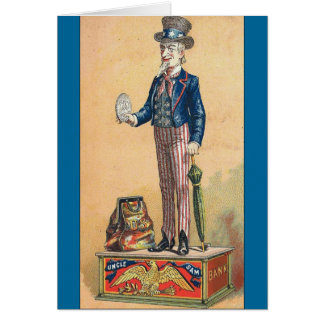 Vintage Uncle Sam Coin Bank Card
