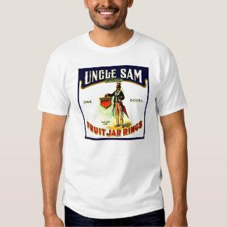 Vintage Uncle Sam Fruit Jar Rings Box Label Shirt