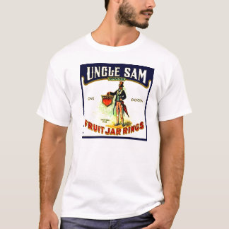Vintage Uncle Sam Fruit Jar Rings Box Label T-Shirt