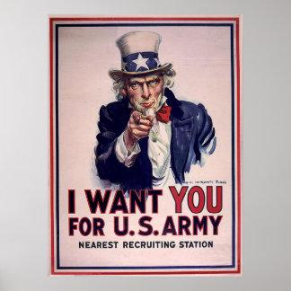Vintage Uncle Sam Recruitment Poster