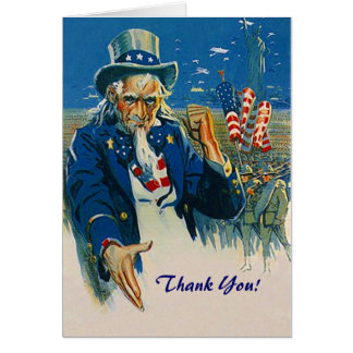 Vintage Uncle Sam Thank You For Your Service Card