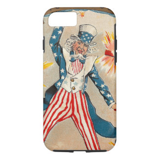 Vintage Uncle Sam Tossing Firecrackers Americana iPhone 7 Case