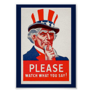 Vintage Uncle Sam WW2 Propaganda Poster