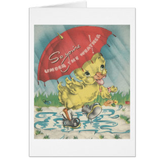 """Vintage """"Under The Weather"""" Duck Card"""