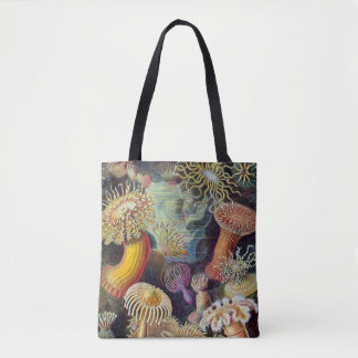 Vintage Underwater Sea Anemones by Ernst Haeckel Tote Bag