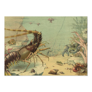 Vintage Underwater Sea, Ocean Animals Invitation