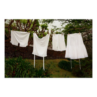 Vintage underwear laundry poster