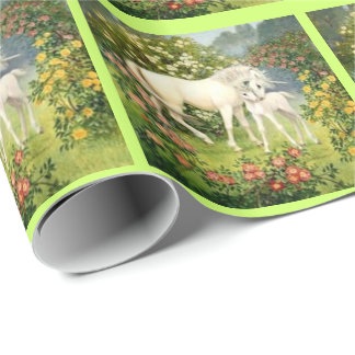 Vintage Unicorns Gift Wrapping Paper