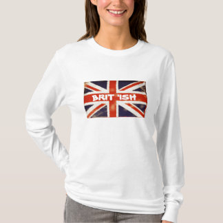 Vintage Union Jack BRIT 'ISH Long Sleeve T-Shirt