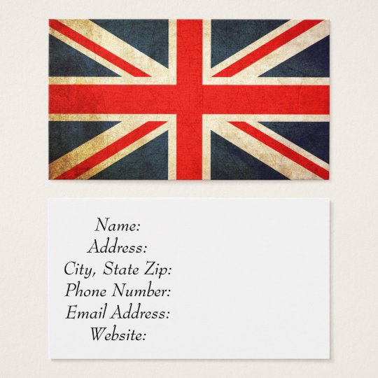 Vintage Union Jack British Flag Business Card