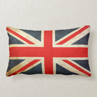 Vintage Union Jack British Flag Lumbar Pillow
