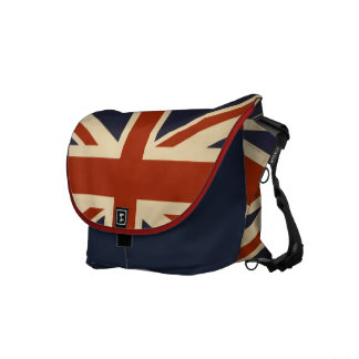 Vintage Union Jack British Flag Messenger Bag