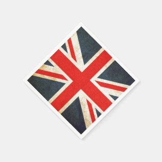 Vintage Union Jack British Flag Paper Napkin