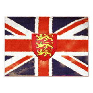 Vintage Union Jack Coat Of Arms Invitations