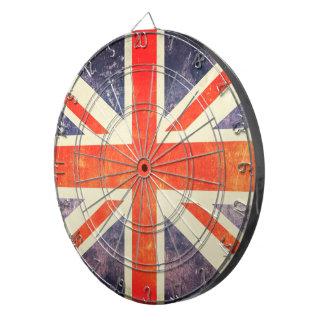 Vintage Union Jack flag Dartboard With Darts