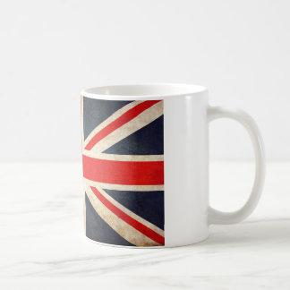 Vintage Union Jack Flag Grunge Coffee Mug