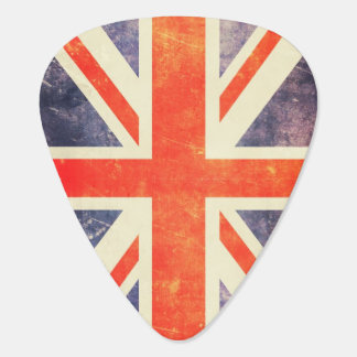 Vintage Union Jack flag Guitar Pick