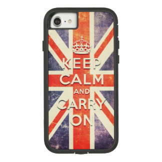 Vintage Union Jack flag keep calm and carry on Case-Mate Tough Extreme iPhone 8/7 Case