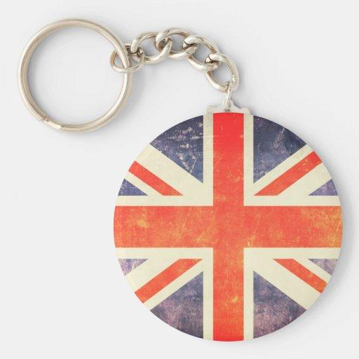 Vintage Union Jack flag Key Chains