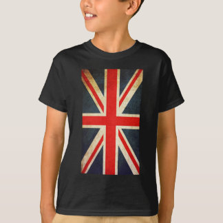 Vintage Union Jack Flag Kids Hanes TAGLESS T-Shirt