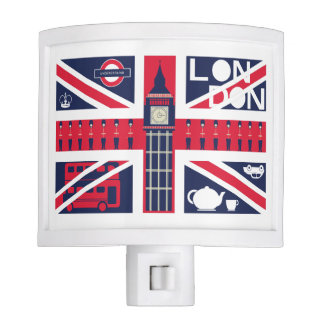 vintage union jack flag with london decoration nite lights
