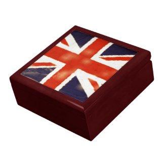 Vintage Union Jack Large Keepsake Box