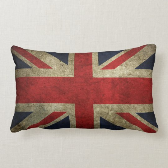 Vintage Union Jack Lumbar Pillow