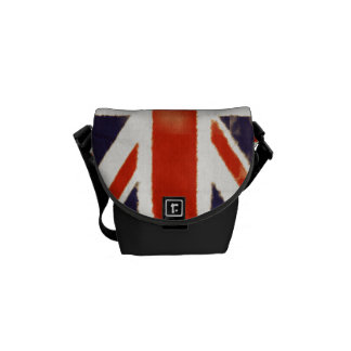 Vintage Union Jack Mini Messenger Commuter Bag