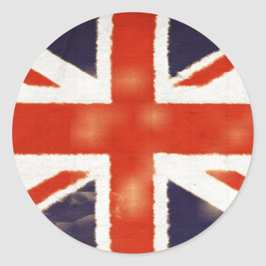 Vintage Union Jack Round Stickers