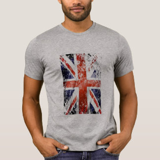 Vintage Union jack UK flag distressed design T-Shirt