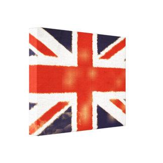 Vintage Union Jack Wrapped Canvas Print
