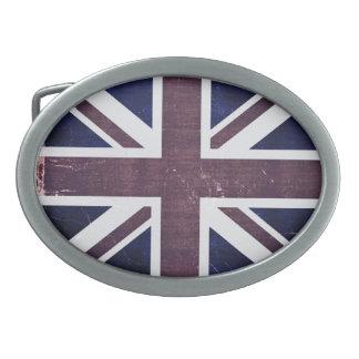 Vintage United Kingdom Flag Belt Buckles