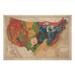 Vintage United States Geological Map (1872) Poster