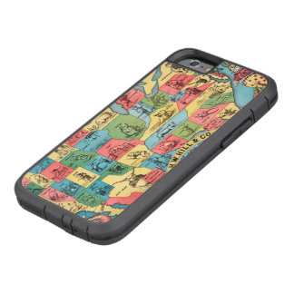 Vintage United States Nicknames Map Tough Xtreme iPhone 6 Case