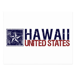 Vintage United States with Star – Hawaii Postcard