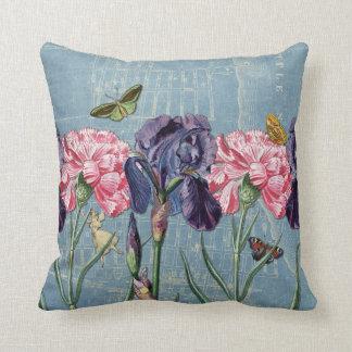 Vintage Urban Garden Collage Throw Pillow