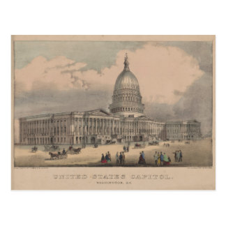 Vintage US Capitol Building Illustration (1872) Postcard