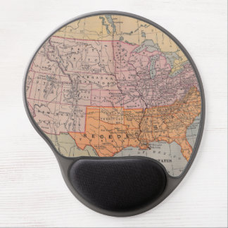 Vintage US Civil War Era Map 1861 Gel Mouse Pad
