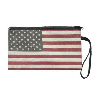 Vintage US Flag Wristlet