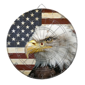 Vintage US USA Flag with American Eagle Dart Boards