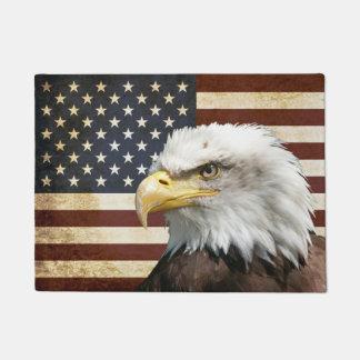 Vintage US USA Flag with American Eagle Doormat