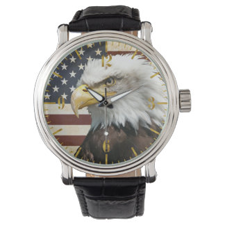 Vintage US USA Flag with American Eagle Watch