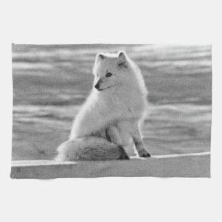 Vintage USA Alaska Arctic fox 1970 Kitchen Towel