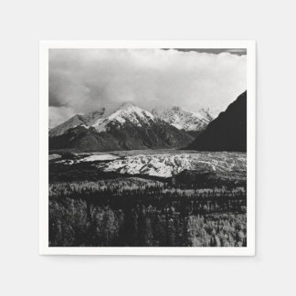 Vintage USA Alaska Matanuska glacier 1970 Disposable Napkin