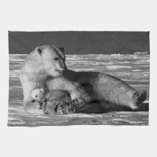 Vintage USA Alaska mother polar bear 1970 Kitchen Towels